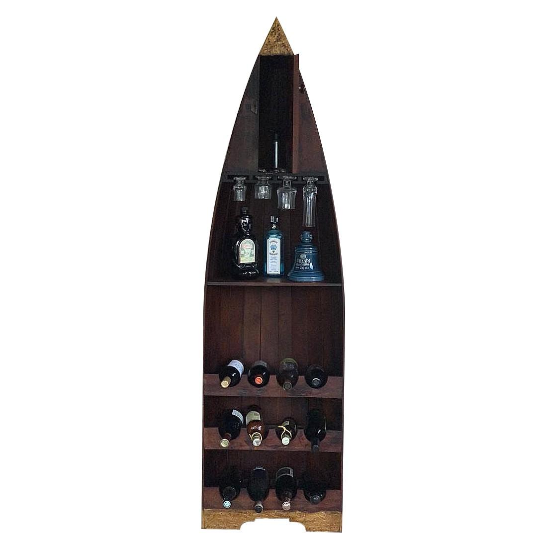 [FRETE INCLUSO] Adega modelo Canoa em Madeira Albésia ( 32x55x190cm )