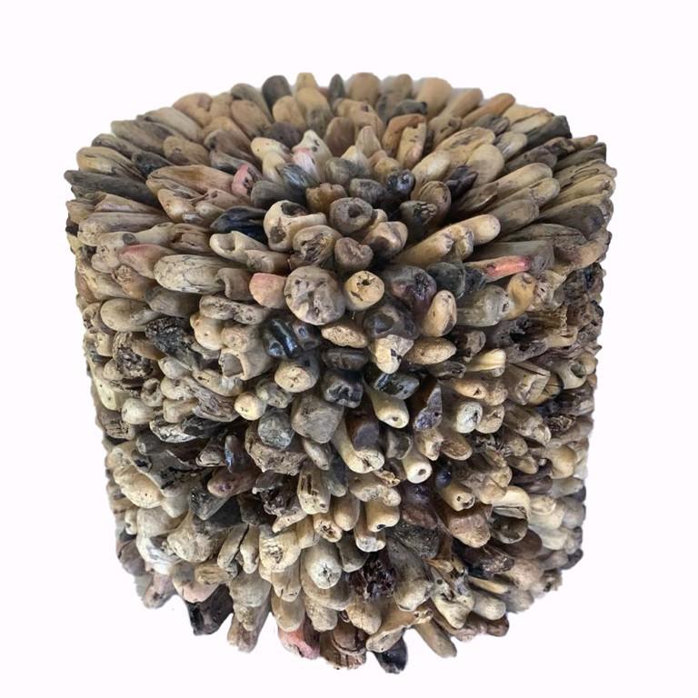 [FRETE INCLUSO] Base para Mesa em Mosaico de Madeira Teca Reciclada ( 50x40cm ) - Vidro NÃO incluso