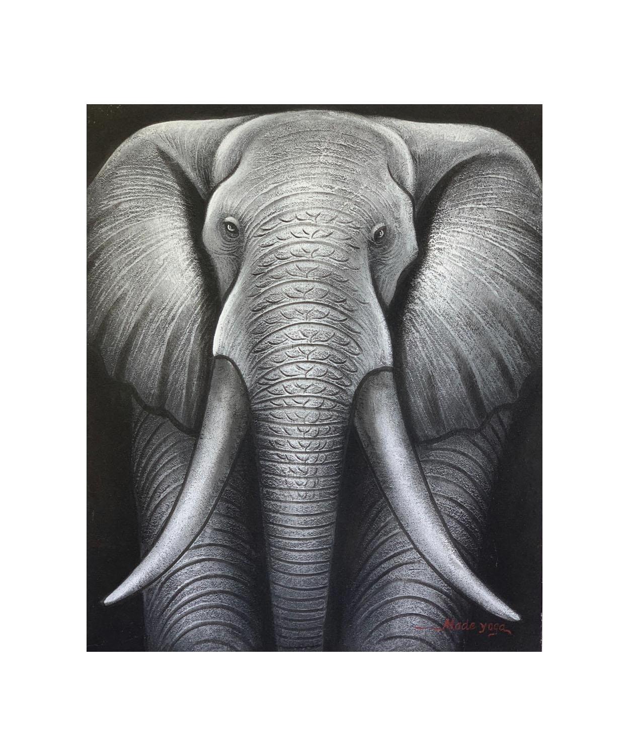 Pintura em Tela - Elefante (70x90) - ( FRETE INCLUSO )