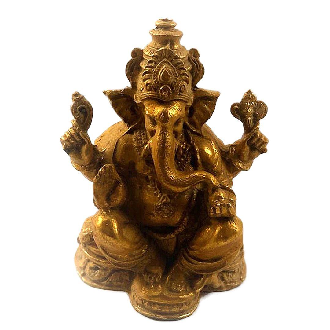 Ganesha em Resina - 15cm - Branco ou Dourado