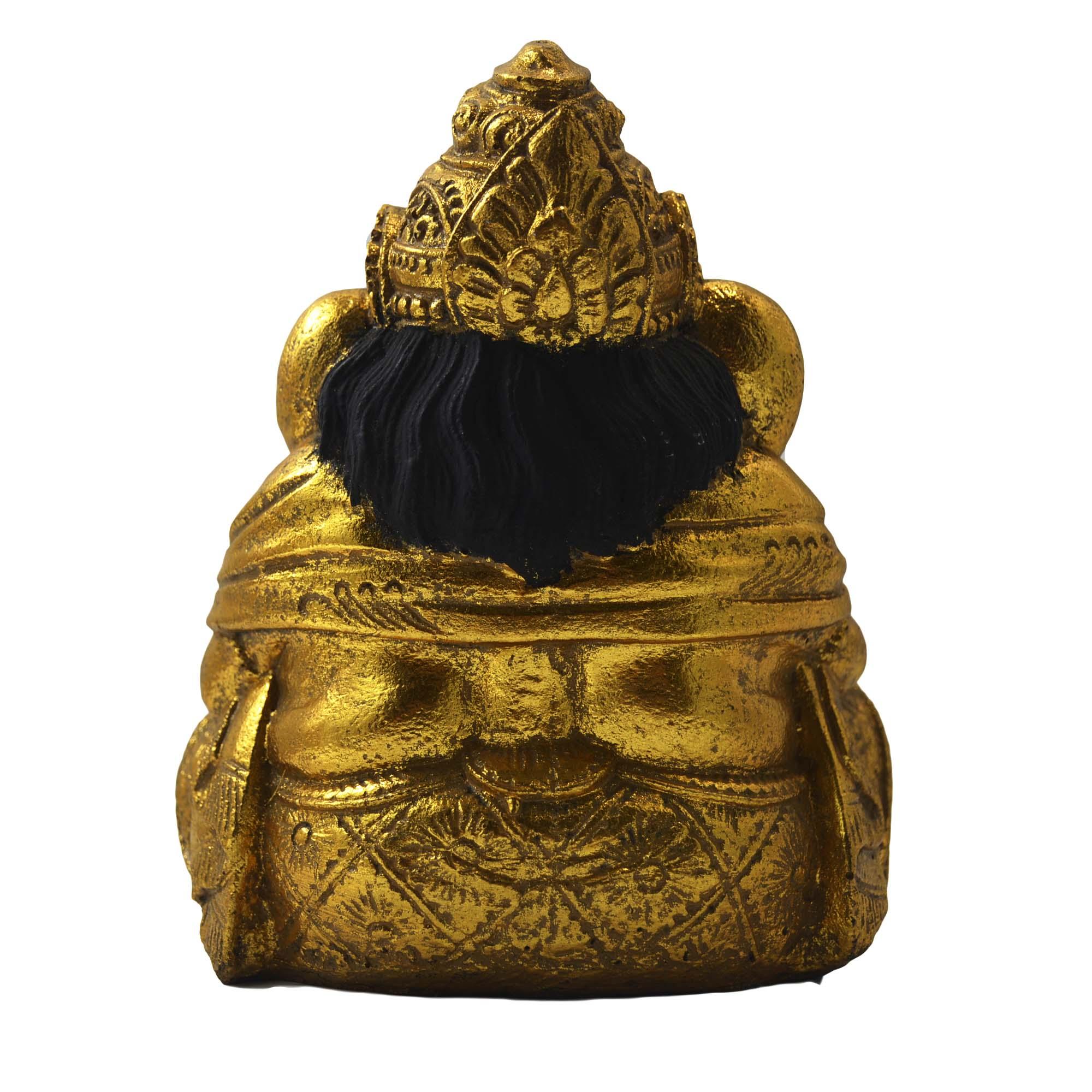 Ganesha (Lendo) em Resina - 20cm - Dourado