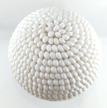 Luminária Mosaico - Conchas Naturais (27x27cm)