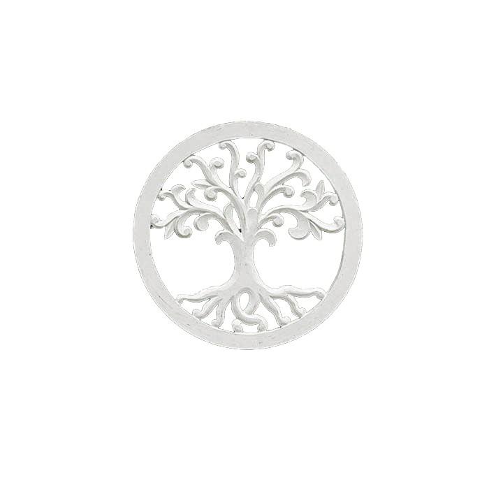 Mandala Árvore da Vida - Branca - Folhas arredondadas [40 cm]