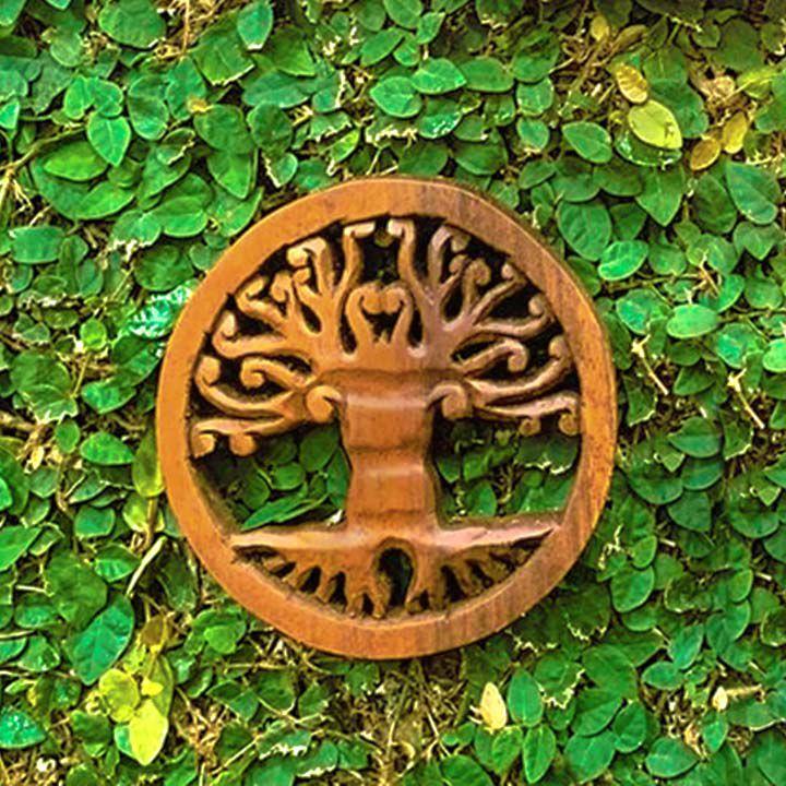 Mandala Árvore da Vida em Madeira Suar [15/20/40cm]