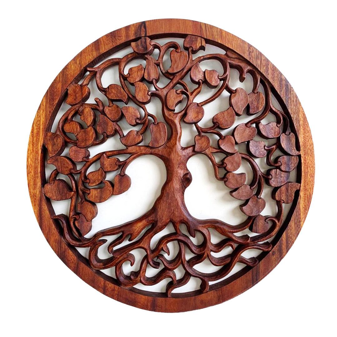 Mandala Árvore da Vida em Madeira Suar ( 50cm )