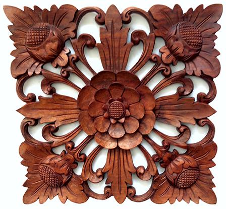 Mandala Quadrada Flor de Lótus ( 40cm )