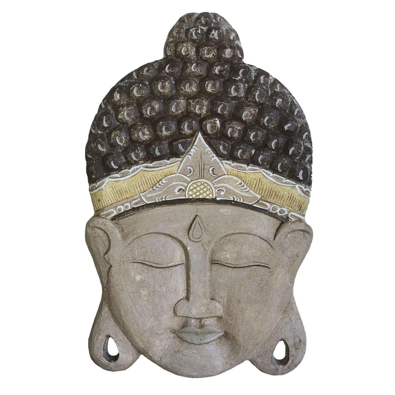 Pingente Rosto de Buda em MDF com pintura em Patina ( 60cm )