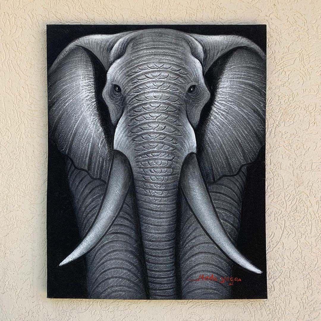 ( FRETE INCLUSO ) - Pintura em Tela - Elefante (70x90)