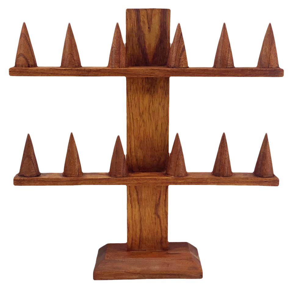 Porta Anéis em Madeira Suar ( 12 Anéis )