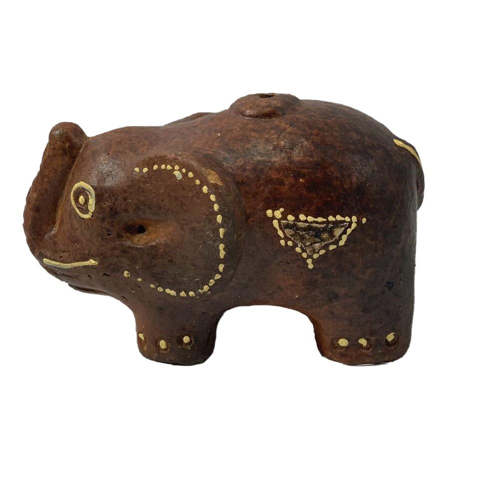 Porta Incenso em Cerâmica - Elefante ( 7cm )