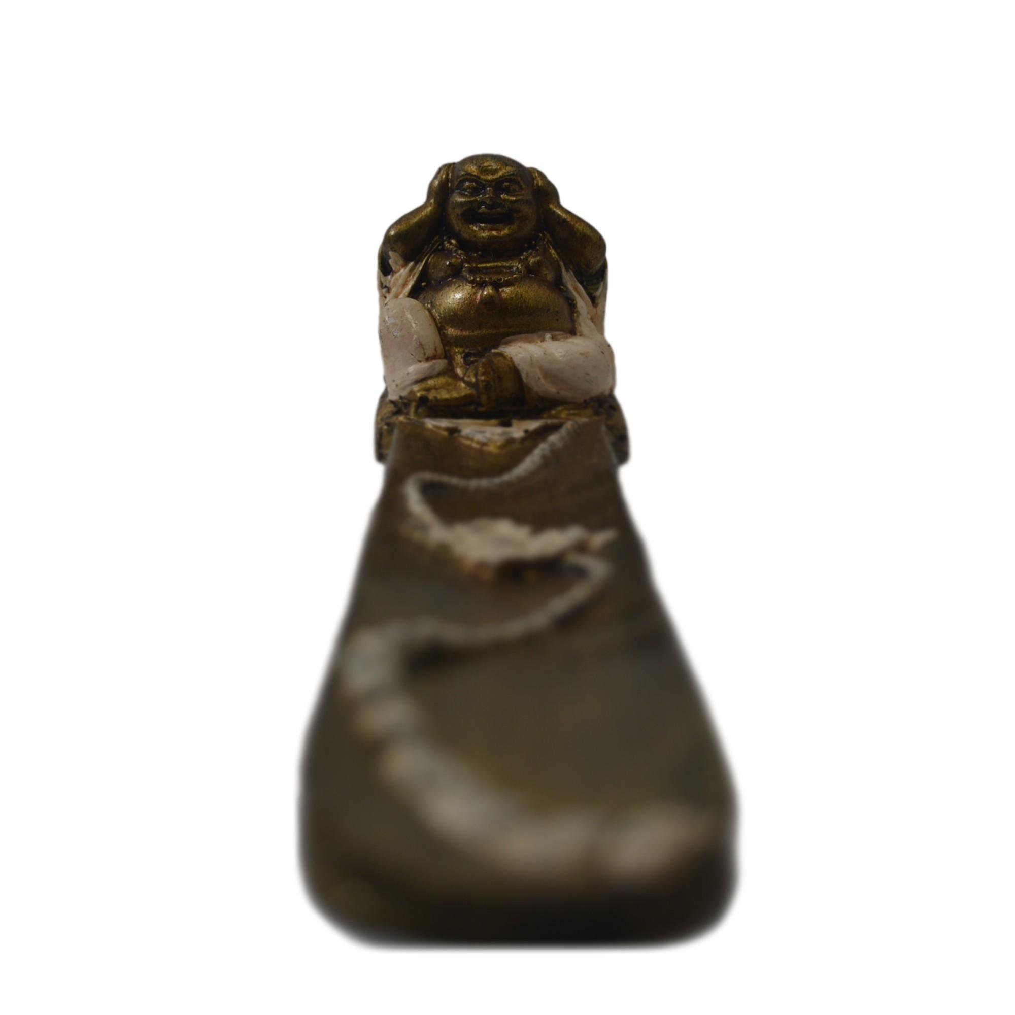 Porta Incensos Buda Maitreya - Não Ouço ( 07x05x29cm )