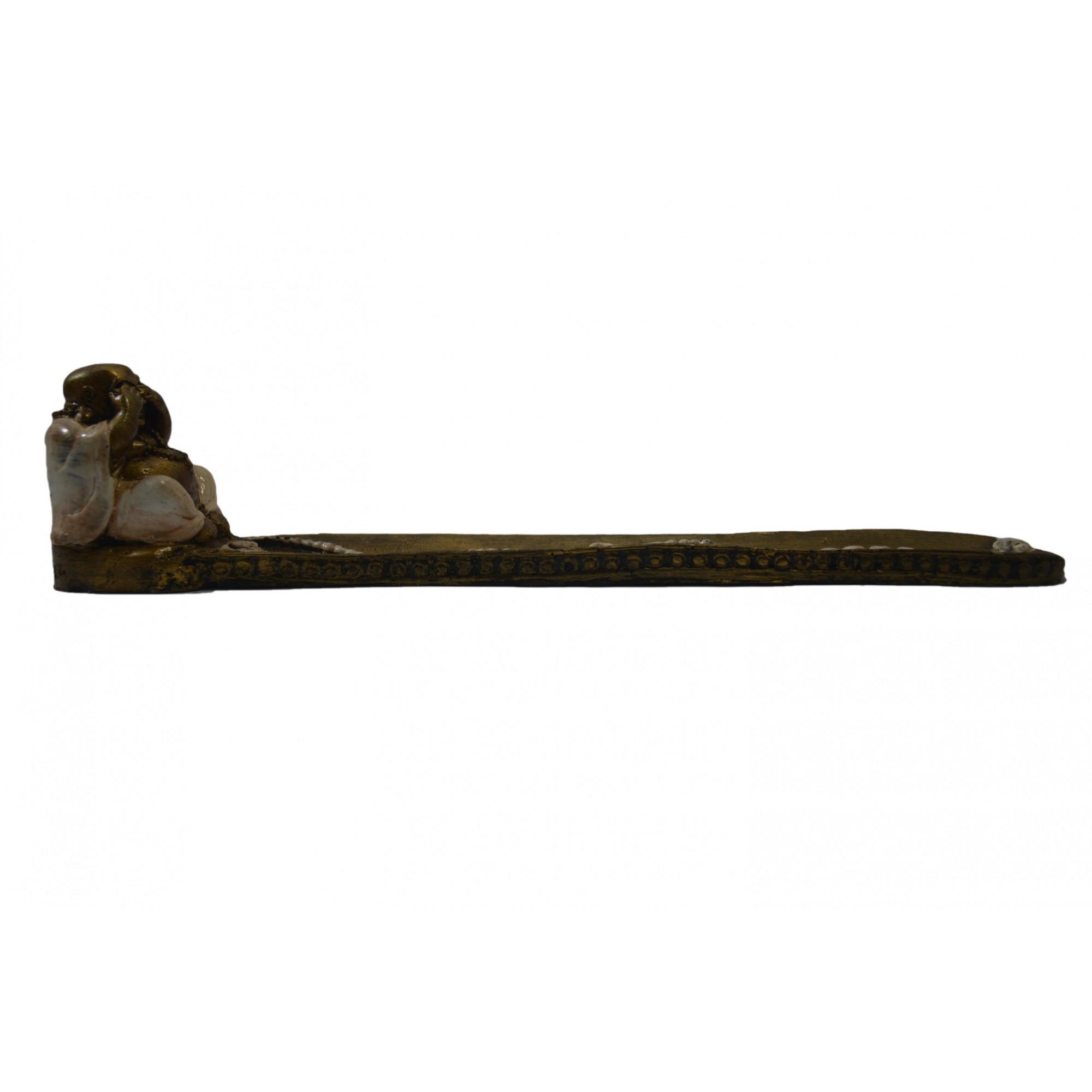 Porta Incensos Buda Maitreya - Não Vejo ( 07x05x29cm )