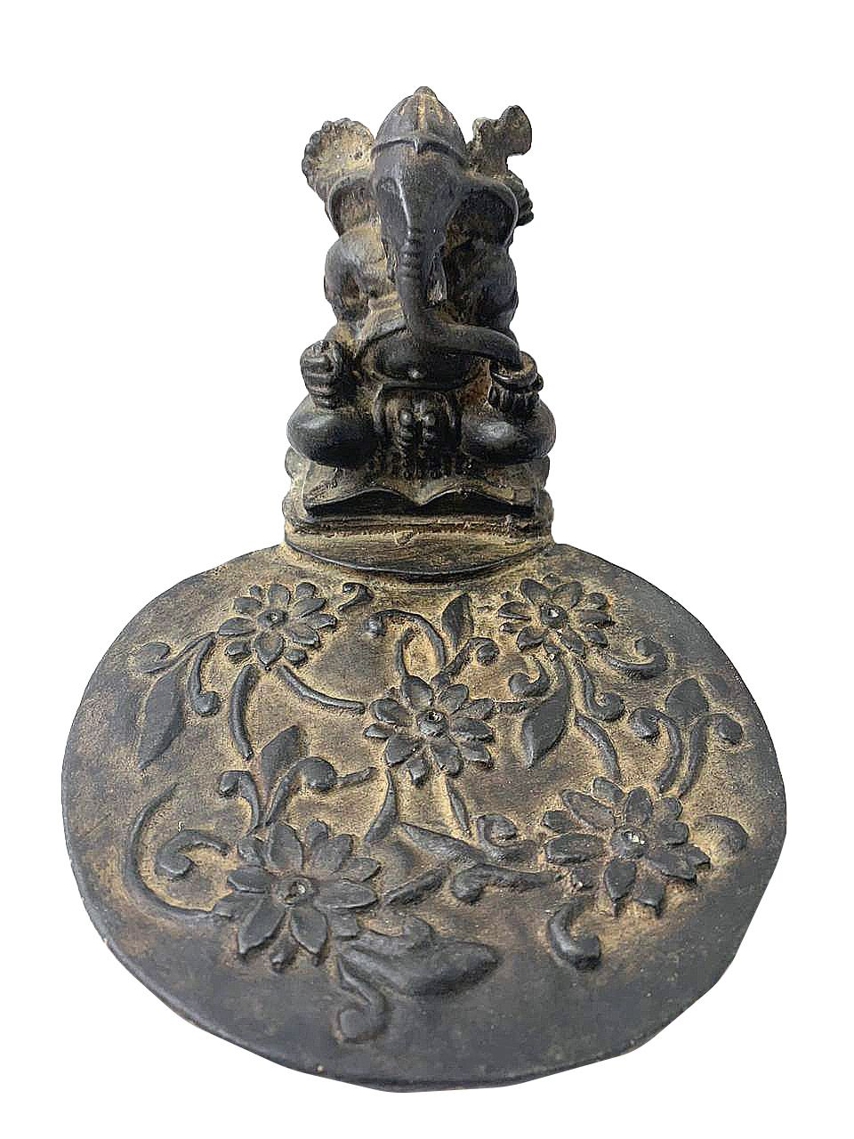 Porta Incensos com 5 Espaços - Ganesha em Resina Preto ( 10x15x19cm )