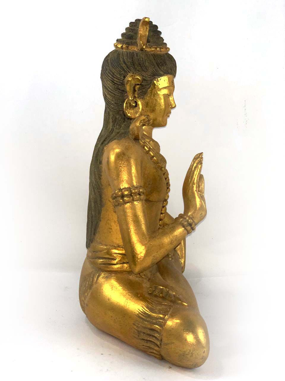Shiva em Resina Dourada ( 33x25x14cm )
