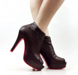 PEEP TOE-ANKLE-BOOT-SALTO-ALTO-