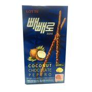 Biscoito de Palito de Coco com Chocolate com Côco Pepero Lotte 32g