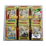 Chá Chinês 6 sabores (Mini latas douradas)