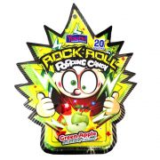 Rock Roll Popping Candy sabor Maçã Verde 30g