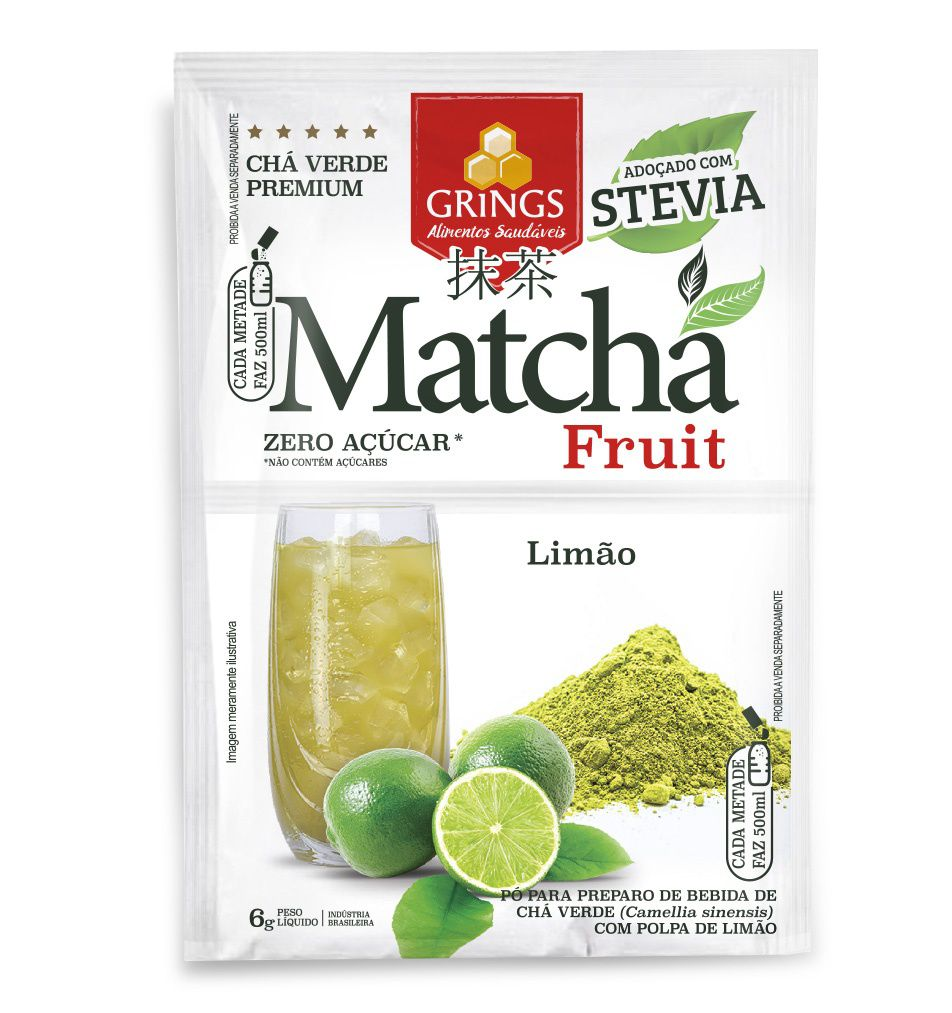 Chá Verde Matcha fruit Limão 6g