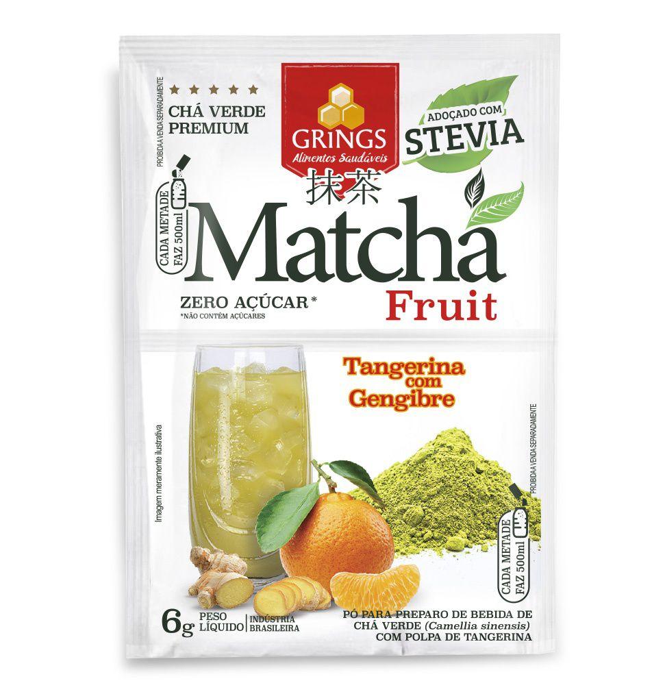 Chá verde Matcha fruit Tangerina com Gengibre 6g