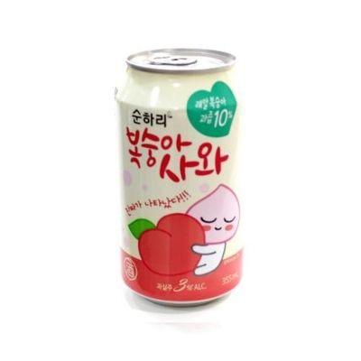 Coquetel Alcoólico Gaseificado sabor Pêssego Lotte 355ml