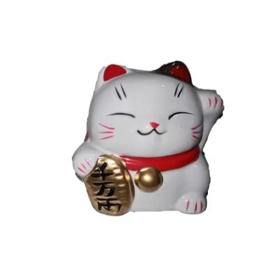Gato Cofrinho em Porcelana