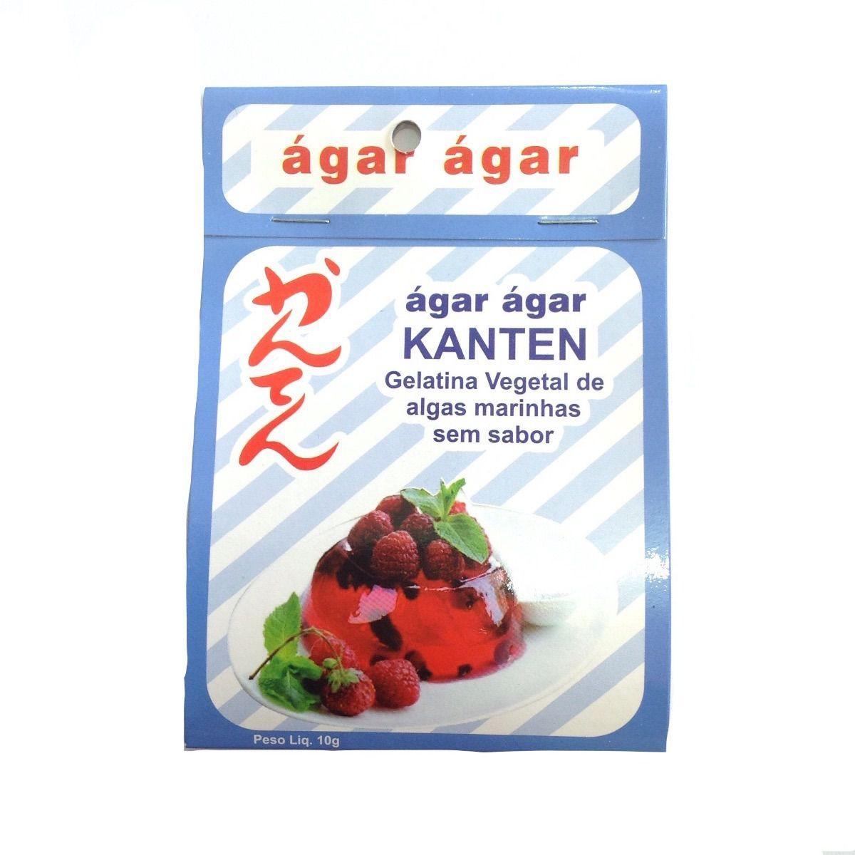 Gelatina Vegetal de Algas Marinhas Ágar Ágar Kanten 10g