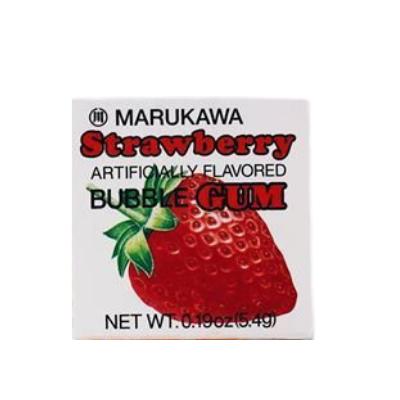 Goma de Mascar Morango Marukawa 5,4g