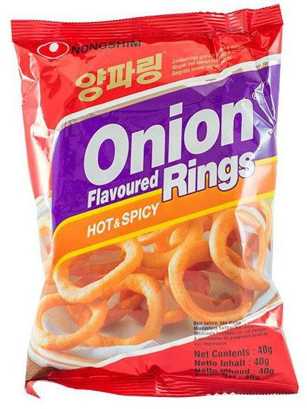Salgadinho de Cebola picante Onion Flavoured Rings HOT & SPICY 40g