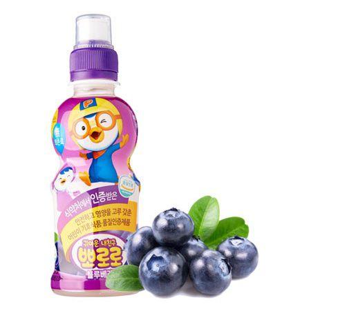Suco Coreano - Pororo sabor Mirtilo - 226 ml