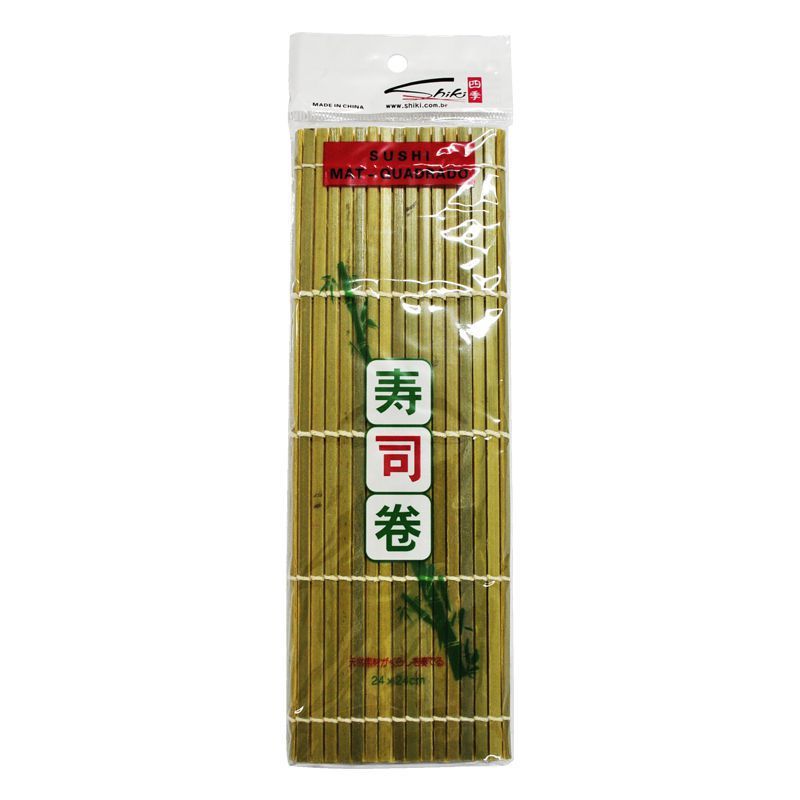 Esteira de Bambu para Sushi 24x24cm