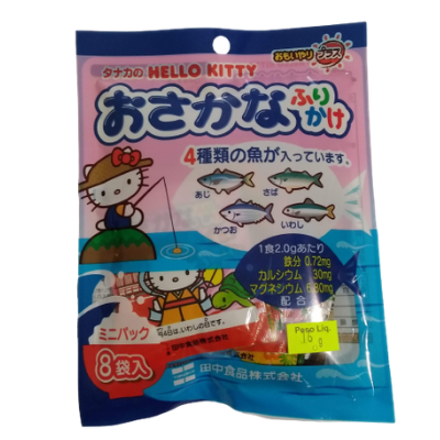 Tempero p/ Arroz Furikake Hello Kitty Sabor Peixe c/8und 16g