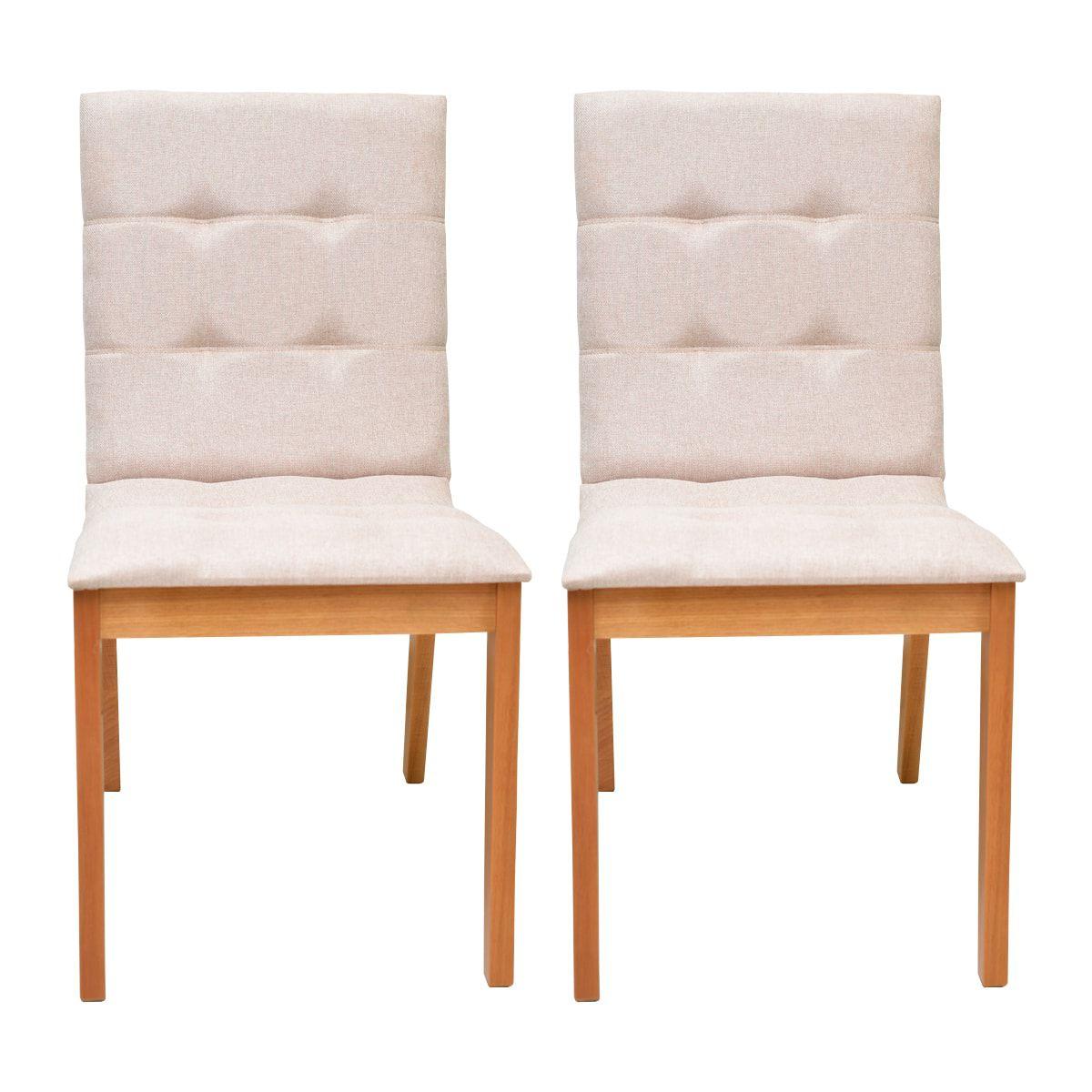 Conjunto Cadeiras Camila Linho Bege