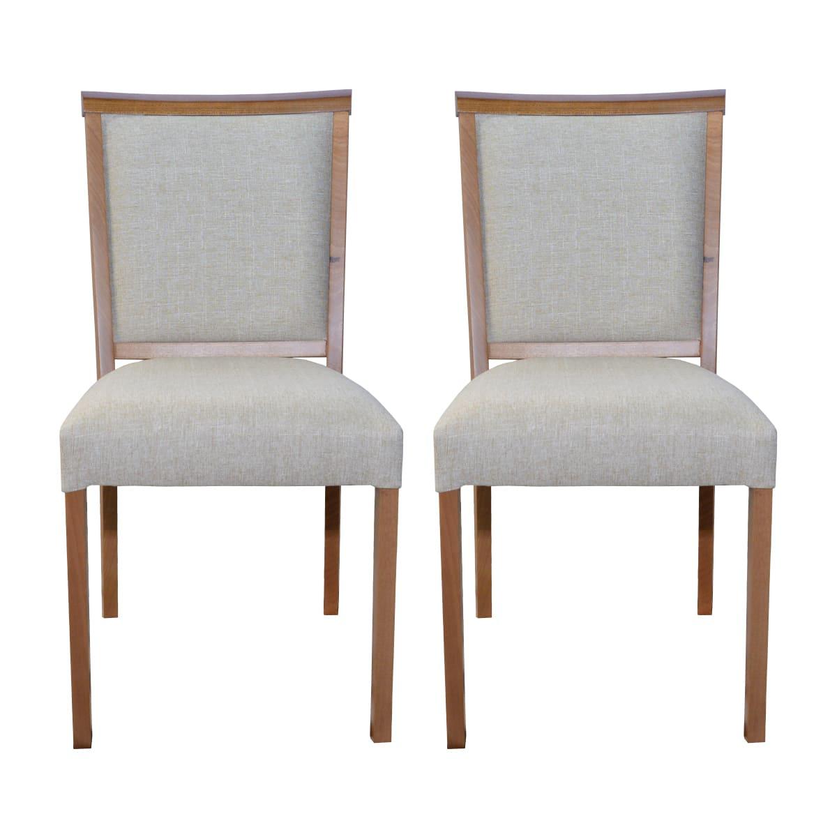 Conjunto Cadeiras Débora Linhão Bege