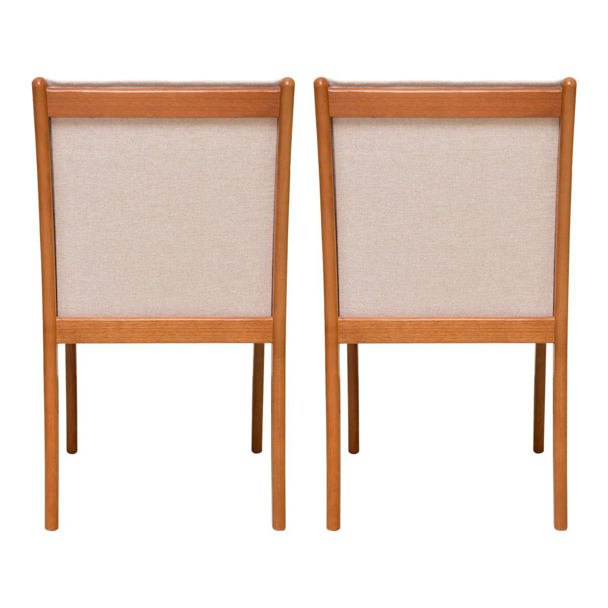 Conjunto Cadeiras Eliane Linho Bege