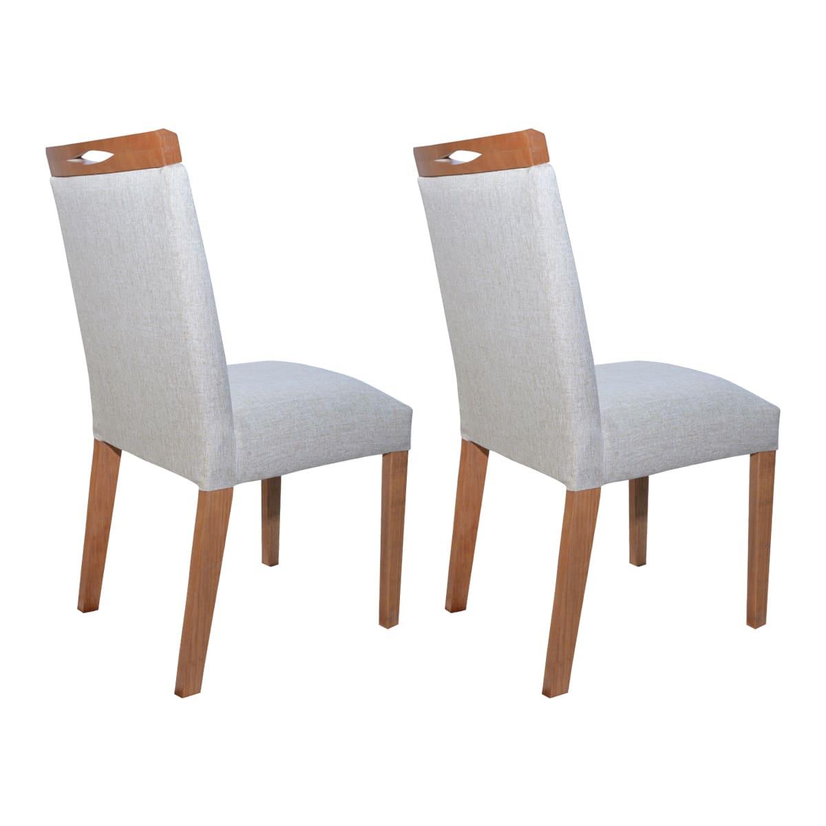 Conjunto Cadeiras Lara Linhão Bege