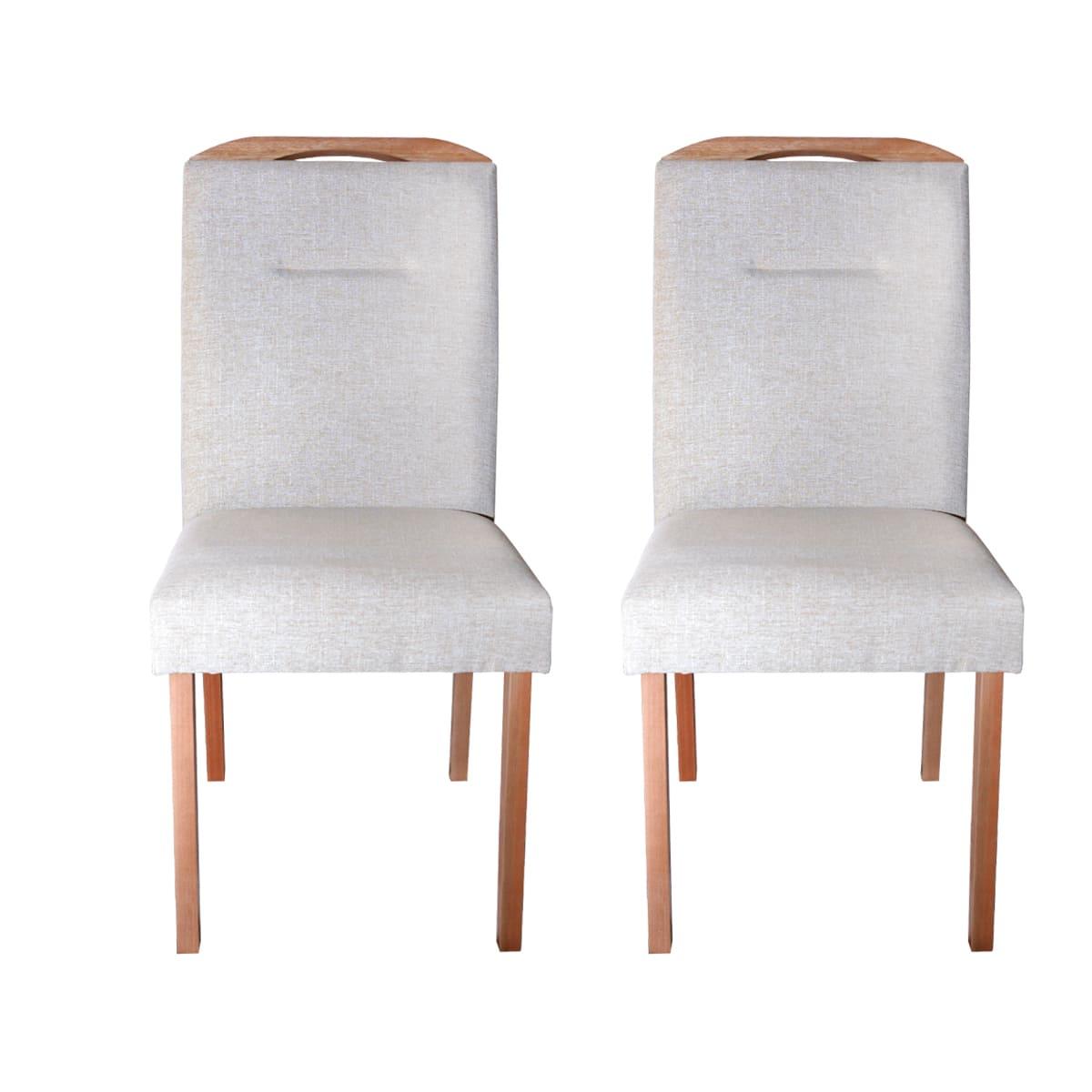 Conjunto Cadeiras Luna Linhão Bege