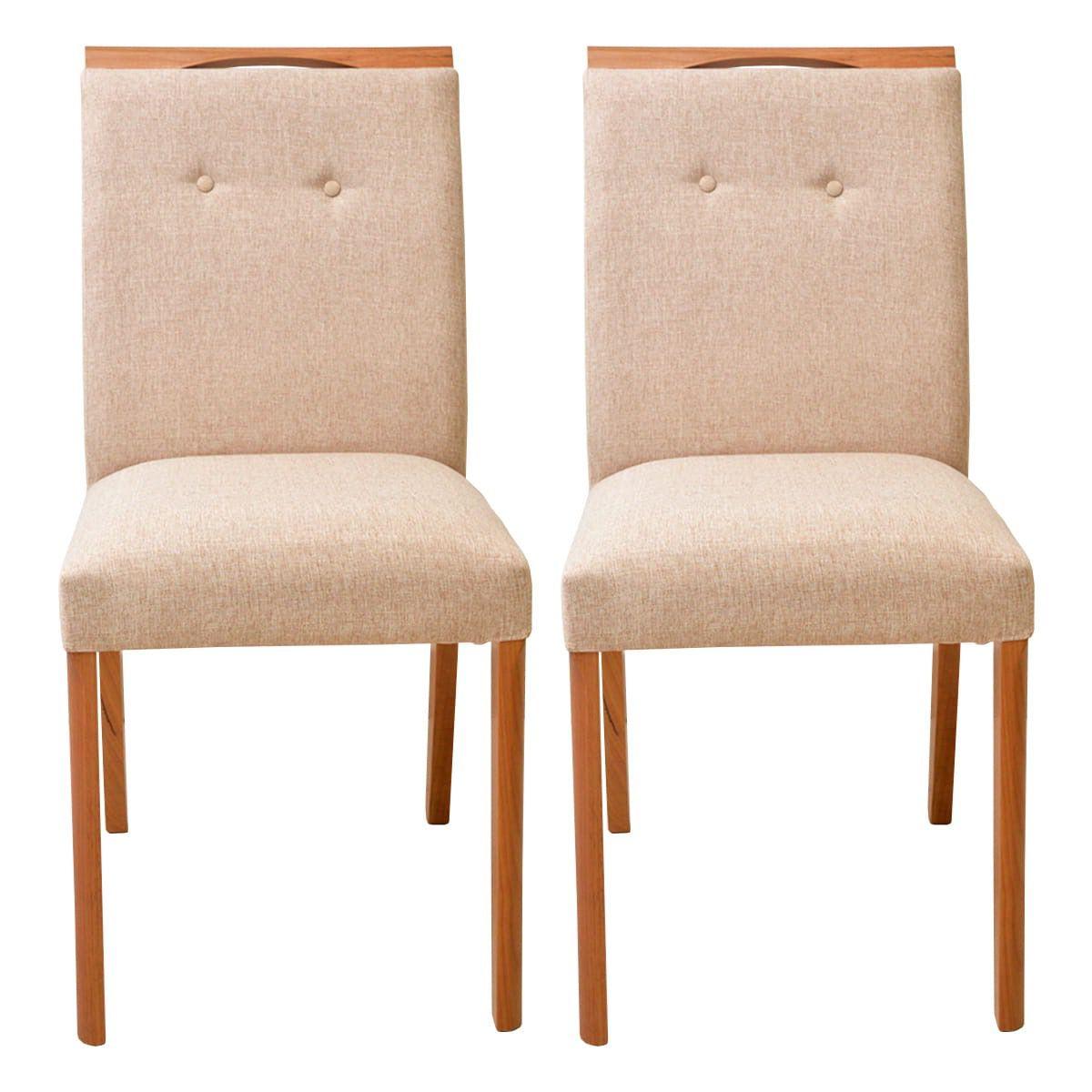 Conjunto Mesa De Jantar Lara 120x80 Com 4 Cadeiras Vitória