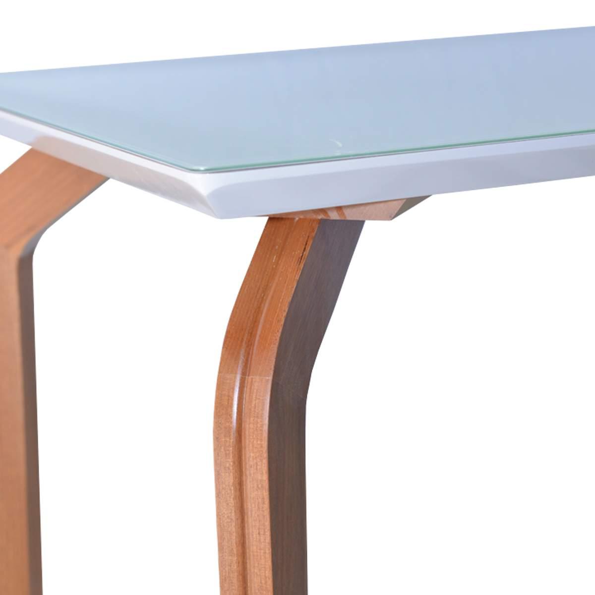 Mesa De Jantar Ana 200x100 Com 08 Cadeiras Lara Linhão Bege