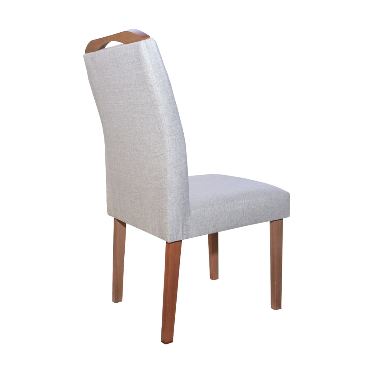 Mesa De Jantar Ester 135x135 Com 06 Cadeiras Luna Linhão Bege