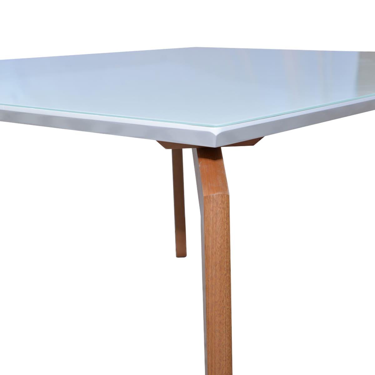 Mesa de Jantar Ester 180x90 Com 06 Cadeiras Luna Linhão Bege