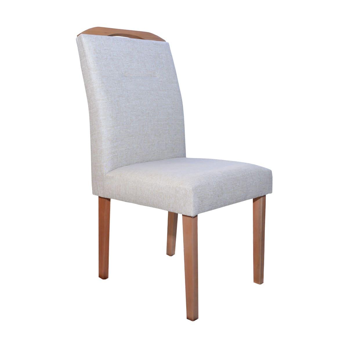 Mesa De Jantar Lara 120x90 Com 04 Cadeiras Luna Linhão Bege