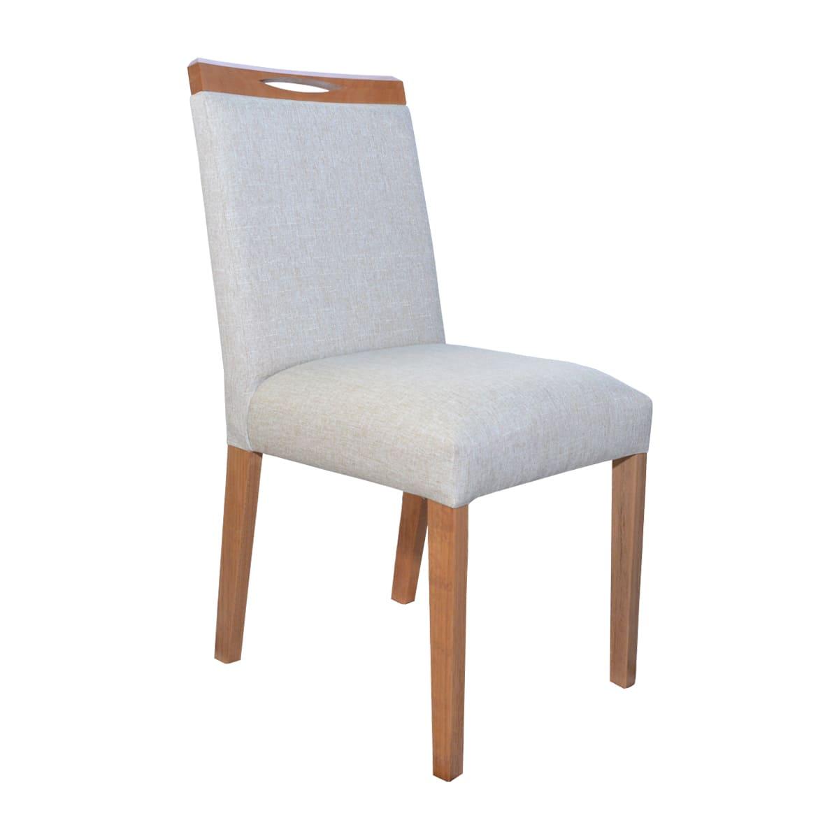 Mesa De Jantar Vitória 120x80 Com 04 Cadeiras Lara Linhão Bege