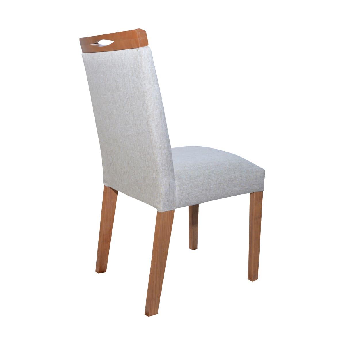 Mesa de Jantar Vitória 180x90 Com 06 Cadeiras Lara Linhão Bege