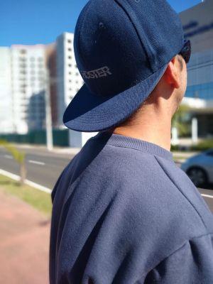 Boné Azul Marinho Aba Reta HOSTER