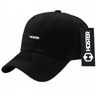 Boné Dad Hat Preto Strapback Athleisure HOSTER