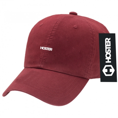 Boné Dad Hat Strapback Bordô Athleisure HOSTER