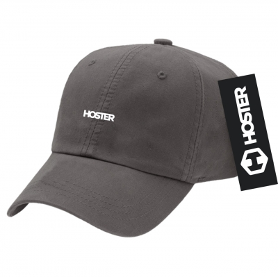 Boné Dad Hat Strapback Cinza Athleisure HOSTER