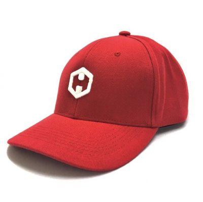 Boné HOSTER  Aba Curva Vermelho Logo