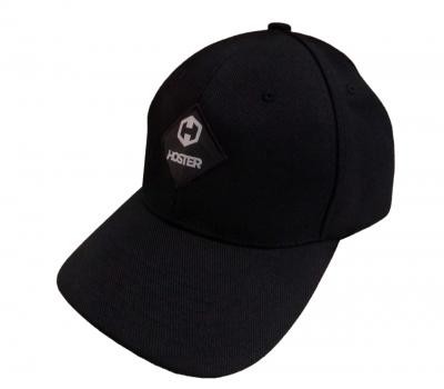 Boné Snapback Aba Curva Preto Logo HOSTER